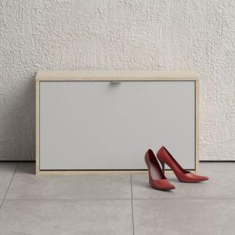 Głęboka szafka na obuwie Roma 1D dąb sonoma / biały