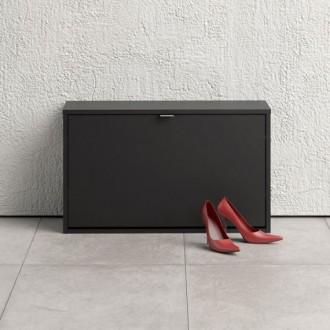 Czarna szafka na buty Roma 1D głęboka