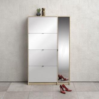 Szafka na buty z lustrem Roma 5D dąb sonoma / biały