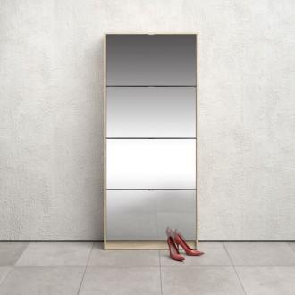 Szafka na obuwie z lustrem Roma 4D dąb sonoma / biała
