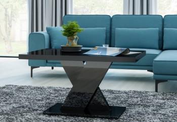 Czarny stolik do salonu w połysku Oskar Mini