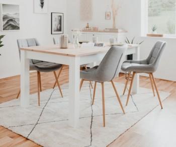 Rozkładany stół na czterech nogach w stylu rustykalnym Bergen