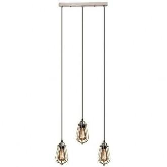 Szeroka lampa wisząca w stylu industrialnym Kopenhagen Loft Chrom CL