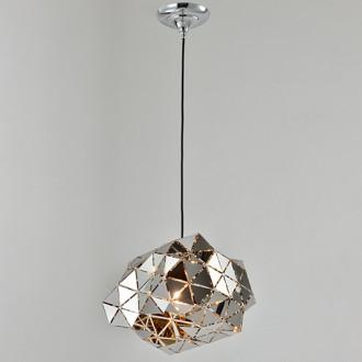 Designerska lampa wisząca z lustrzanym kloszem 80's B