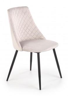 Tapicerowane krzesło na metalowych nogach K405