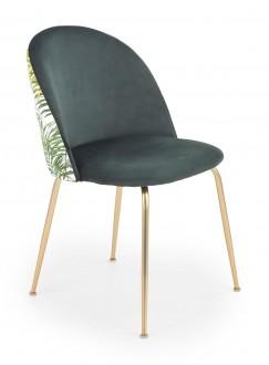 Krzesło z tapicerowanym siedziskiem i oparciem K372