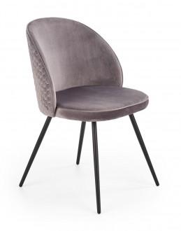 Krzesło z tapicerowanym siedziskiem i oparciem K395