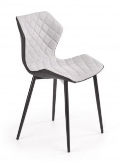 Pikowane krzesło do jadalni na czterech nogach K389