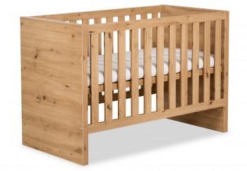 Łóżeczko dziecięce z funkcją sofy Amelia dąb 120x60