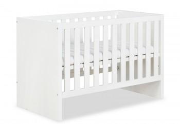 Białe łóżeczko dziecięce z funkcją tapczanika Amelia 120x60