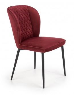 Pikowane krzesło na skośnych nogach w stylu glamour K399
