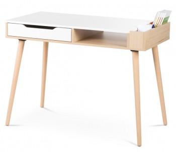 Skandynawskie biurko młodzieżowe Sofie z pojemnikami na przybory