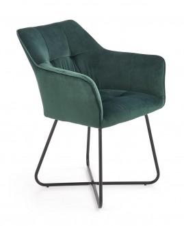 Tapicerowane krzesło z podłokietnikami na płozach K377