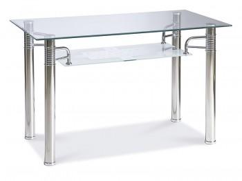 Stół do jadalni ze szklanym blatem i półką Reni A 120x65