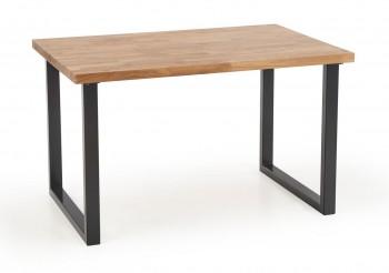 Stół w stylu industrialnym na płozach Radus 140/85 dąb lity