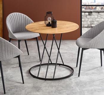 Okrągły stół do jadalni na stalowych nogach Sven