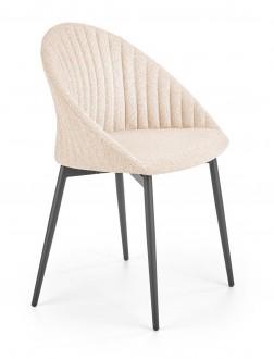 Tapicerowane krzesło z pionowymi przeszyciami K357