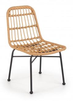 Krzesło z rattanu na metalowych nogach K401