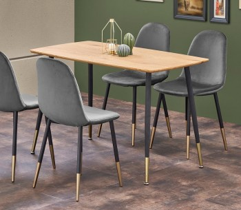 Nierozkładany stół ze złotymi elementami Tripolis