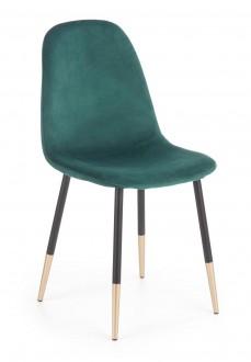 Tapicerowane krzesło z elementami w kolorze złota K379