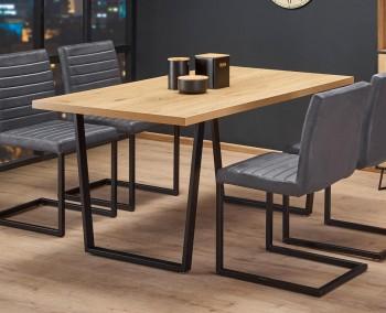 Industrialny stół do jadalni na płozach Ulrich