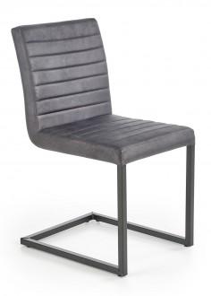 Popielate krzesło na płozach do jadalni K376