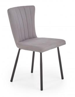Krzesło do jadalni tapicerowane ekoskórą w stylu glamour K380