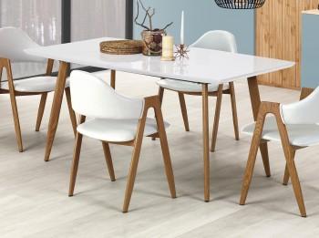 Stół do jadalni z rozkładanym blatem w kolorze białym Ruten