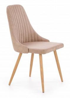 Tapicerowane krzesło do jadalni z przeszyciami K285