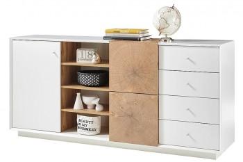 Szeroka komoda pokojowa z szufladami i drzwiami Portmore 2D4S