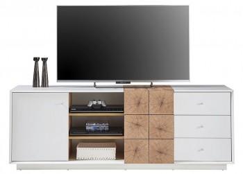 Wysoka szafka RTV z szufladami i drzwiczkami Portmore