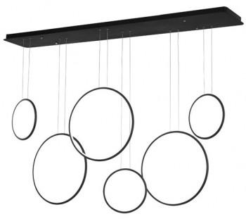 Szeroka lampa wisząca do salonu Ledowe Okręgi 3K No.8 w stylu designerskim