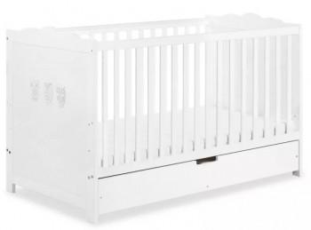 Łóżeczko dziecięce z szufladą i barierką Marsell 140x70