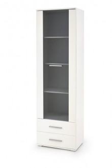 Biała witryna z szufladami Lima W1 w kolorze białym