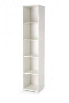 Wąski regał z półkami Lima SL1 w kolorze białym