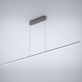 Szeroka lampa LED czarna do jadalni Linea No.1