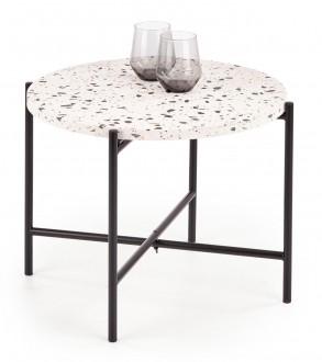 Okrągły stolik pomocniczy na metalowej podstawie Lastrico