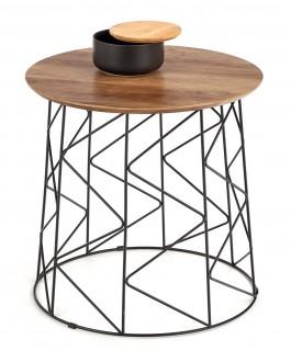 Loftowy stolik pomocniczy z okrągłym blatem Musaka