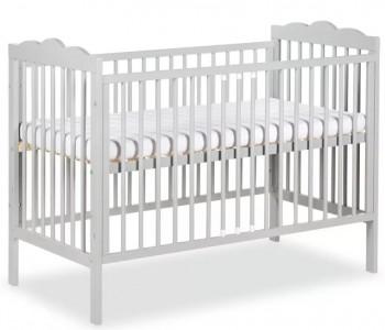Szare łóżeczko niemowlęce na nóżkach Radek III 120x60