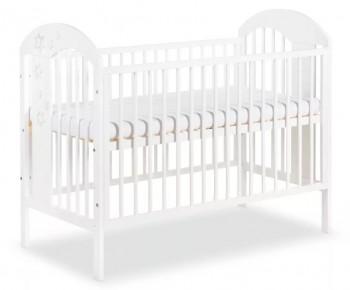 Białe łóżeczko niemowlęce na wysokich nóżkach Radek VII 120x60
