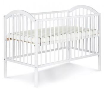 Białe łóżeczko Ewelina I 120x60 z regulowanym dnem