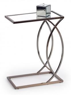 Stolik pomocniczy z ozdobną podstawą w stylu glamour Parma