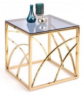 Złoty stolik kawowy Universe kwadrat