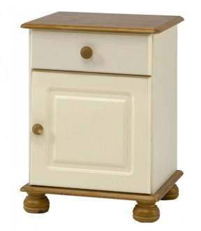 Szafka nocna z szufladą i szafką Richmond kolor kremowy