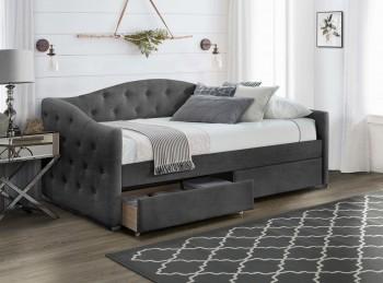 Tapicerowane łóżko jednoosobowe z szufladami Aloha