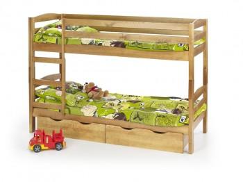 Piętrowe łóżko z litego drewna Sam olcha