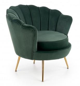 Tapicerowany fotel w stylu glamour Amorinito