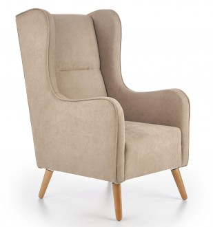 Fotel wypoczynkowy tapicerowany tkaniną Chester