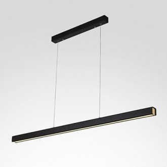 Czarna lampa jadalniana LED 4K Linea No 4 100 cm
