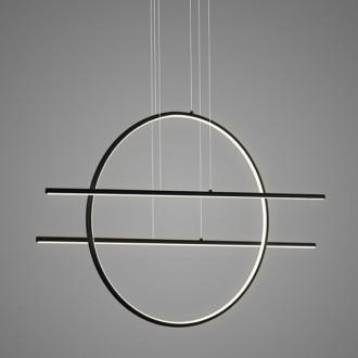 Designerska lampa wisząca ring Linea No 3 czarna 3K